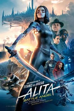 Directed by Robert Rodriguez. With Rosa Salazar, Christoph Waltz, Jennifer Connelly, Mahershala Ali. A deactivated cyborg is revived, but cannot remember anything of her past life and goes on a quest to find out who she is. Mahershala Ali, Christoph Waltz, James Cameron, Jennifer Connelly, Titanic, Tv Series Online, Movies Online, Movies To Watch, Good Movies