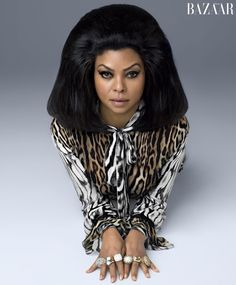 Taraji P. Henson Ups Cookie's Statement Looks in Harper's Bazaar