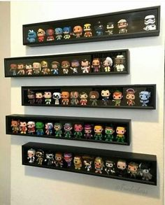 Funko Pop Shelves, Funko Pop Display, Toy Display, Display Case, Home Music, Geek Room, Do It Yourself Baby, Video Game Rooms, Geek Decor