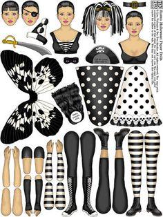 Raven Halloween Paper Dolls | Raven/Ginger/Saffron Paper Dolls – Ten Two Studios