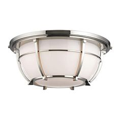 HUDSON VALLEY 4115-PN - CONRAD 3 LIGHT FLUSH MOUNT, Polished Nickel