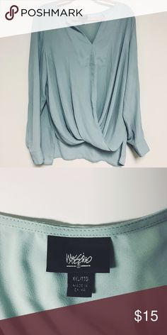 Mossimo Light Blue Blouse Never worn Mossimo Supply Co. Tops Blouses