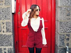 Missguided dungaree playsuit the little magpie