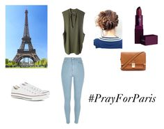 """""""Pray for Paris"""" by sofiahasallpower ❤ liked on Polyvore featuring adidas Originals, River Island, Converse, Lipstick Queen, Forever 21, paris and prayforparis"""