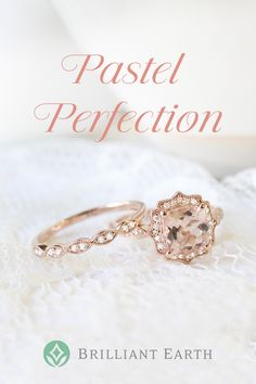 Exquisite petal pink morganite center stones are in full bloom in these stunning engagement rings. Sought after for their exceptional clarity and captivating blush tones, these gems are accentuated perfectly by delicate settings which allow for maximum light to enter the stone.