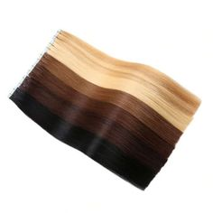 Yilite Hair Remy Tape In Human Hair Extensions, 9 Colors Silky Straight European Tape in Hair Extensions Salon Style Remy Flip In Hair Extensions, Pre Bonded Hair Extensions, Straight Hairstyles, Cool Hairstyles, Blonde Hairstyles, Hair Unit, Hair Extension Salon, Hair Tape, Salon Style