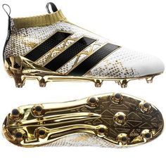 adidas ACE 16+ PureControl FG/AG Stellar Pack - White/Core Black/Gold Metallic…