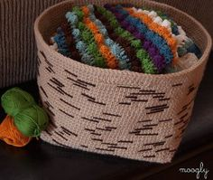 Tree Bark Basket | AllFreeCrochet.com...I really love the size and look of this basket,and it's rated easy!