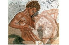 In bed with the Romans: a brief history of sex in Ancient Rome. The sexual predilections of people in Ancient Rome and the debauchery of Roman emperors and their empresses are explored in a new book written by Paul Chrystal  Mosaic of a satyr and nymph, House of Faun, Pompeii, Italy. Artist unknown. © The Print Collector/Alamy Stock Photo