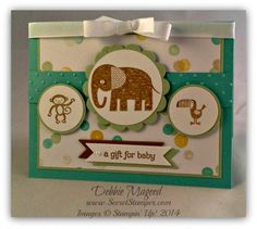 Stamp Set: Zoo Babies Paper: Lullaby DSP, Coastal Cabana, Pistachio Pudding, Baked Brown Sugar, Whisper White Ink: Baked Brown Sugar SU T...