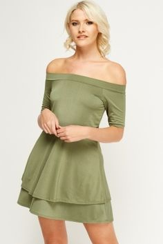 Off Shoulder Swing Dress Latest Dress, Cheap Dresses, Swing Dress, Dress Outfits, Fashion Online, Stuff To Buy, Shopping, Clothes, Shoulder