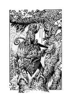 'Chameleon Warrior' Photographic Print by tonyhough Framed Prints, Canvas Prints, Art Prints, Jonathan Green, Warhammer Art, Chameleon, Old School, Fantasy Art, Rpg