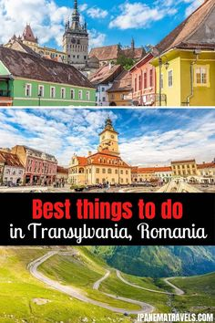 The best things to do in Transylvania, Romania. Discover Transylvania with this itinerary. Plan your trip to Romania with this Transylvania itinerary. It features Brasov, Rasnov Fortress, Sighisoara, Sibiu, Bran Castle and Corvin Castle Travel Around Europe, Places In Europe, Europe Travel Guide, Places To Travel, Travel Destinations, Visit Romania, Transylvania Romania, European Destination, World Heritage Sites