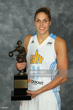 Elena Delle Donne #11 of the Chicago Sky, the 2015 WNBA Most Vauluable Player presented by Samsung, poses for portraits on September 17, 2015 at the UIC Pavilion in Chicago, Illinois.