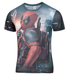 7919d84047 2016 Amerikan Comic Marvel Deadpool Baskılı 3D T-Shirt Erkek/Kadın  Superhero Swag Komik