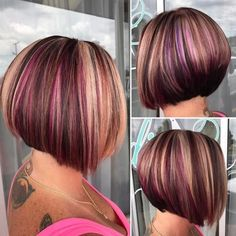 Top colors and the hair cut 2019 - Reny styles Brown Ombre Hair, Ombre Hair Color, Cool Hair Color, Purple Hair, Hair Colors, Pelo Color Plata, Short Hair Cuts, Short Hair Styles, Hair Color Highlights