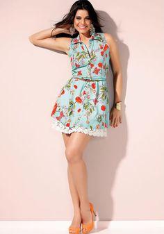 vestidos curtos da moda florais 150x150