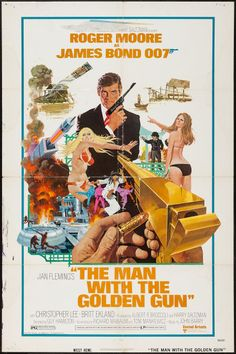"""Movie Posters:James Bond, The Man with the Golden Gun (United Artists, 1974). One Sheet (27""""X 41""""). James Bond.. ... Image #1"""