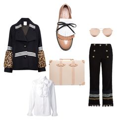 """Anchors Away*"" by crookedcrowncampaign on Polyvore featuring Globe-Trotter, Baum und Pferdgarten, Sonia Rykiel, Marni, Linda Farrow and Ralph Lauren"