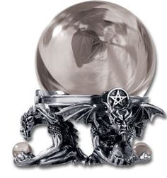 Eye of Astrontiel Crystal Ball - pagan wiccan witchcraft magick ritual supplies Pyramid Collection, Witchcraft Supplies, Gothic Home Decor, Gothic House, Spiritual Gifts, Book Of Shadows, Crystal Ball, Wiccan, Wands