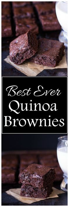 These are the best gluten-free brownies I've ever had! And they're made with healthy quinoa flour, no starches or gums!