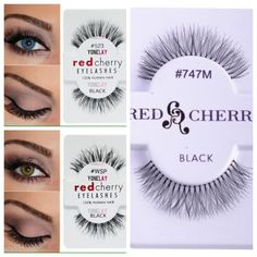 Red cherry lashes: #523, #747M, #WSP