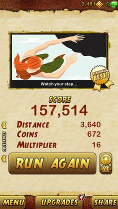 I got 157514 points while escaping from a Giant Demon Monkey. Beat that! http://bitly.com/TempleRun2iOS