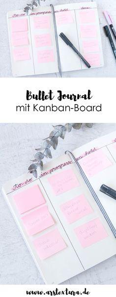 Bullet Journal Ideen: DIY Kanban Board fürs Bullet Journal für die bessere Selbstorganisation im Alltag | Bullet Journal Ideen deutsch | ars textura - DIY Blog