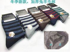 Free Shipping Men Thicken Wool Winter Socks Men Classic Stripe Socks 10 Pairs/lot Wholesale 13486-in Socks from Apparel & Accessories on Aliexpress.com