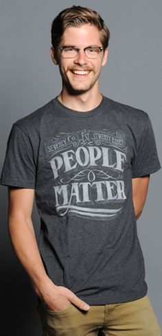 Buy this People Matter Chalk Crew Neck at https://www.sevenly.org/product/50ad7f7ecd40438a0a000002?cid=ShrPinterestProductDetail