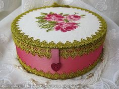 Beautiful cross stitched box