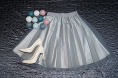 Tulle skirt grey handmade classic wedding, bridesmaid. Order by message or visit my shop https://www.facebook.com/cheremyha.store