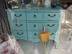 Beautiful colour - love this style, shabby chic vintage furniture
