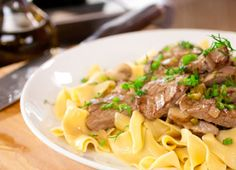 Beef Stroganoff made with Chicken Soup for the Soul beef broth.