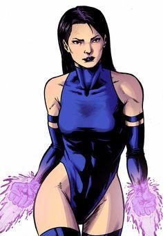 Psylocke, Elizabeth Braddock artwork by Nido Art.