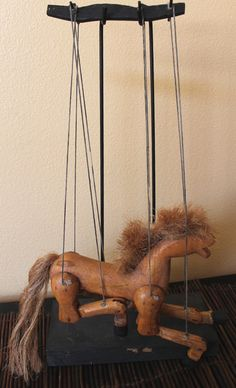 Vintage Antique Marionette Horse eith stand by CaliforniaPicks, $29.99