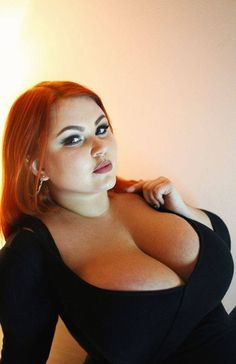 Red big head women breasted