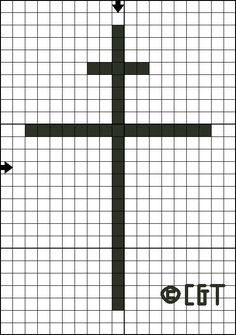 Free Patriarchal Cross Cross-Stitch Pattern - Right click and save the pattern from here on Pinterest and follow the link for the pattern key & instructions.