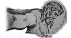 Jesus Tattoo, Religious Tattoos, Black And Grey, Drawings, Angel, Book, Art, Religion Tattoos, Egypt Tattoo