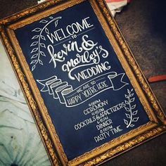 Chalkboard Wedding Sign for Kevin and Marley