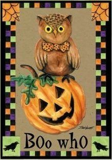 """Boo Who Halloween Garden Flag by DDF. $5.99. Weather and fade resistant. 12""""x18"""". Garden Flags make a great home and garden decoration for every season and reason!. Save 45%!"""