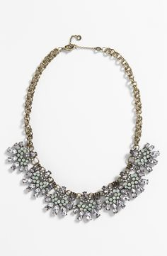 This crystal bib necklace would be perfect to wear with a flowy white top.