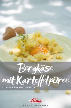 Der Klassiker mit leckerem Vorarlberger Bergkäse g.U. Kartoffelpüree mit Bergkäse für Käseliebhaber Cantaloupe, Fruit, Food, Food Food, Eten, Meals, Diet
