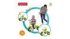 Tricicleta 3 in 1 ce poate fi utilizata de la varsta de 10 luni.  https://mogonel.ro/tricicleta-3-in-1-classic-verde  #tricicleta #copii #aerliber