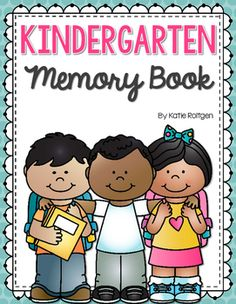Kindergarten Memory Book:This Kindergarten Memory Book is a wonderful way to help your kindergartners reflect on their kindergarten year! This book includes 16 pages (including the cover). I have included multiple versions for the front cover, including a cover with a group of kids and a graduation-themed cover.