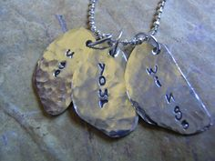 Wings of Love Hand Stamped Wing Necklace by KottageKreations, $32.00
