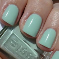 Mint green nails by Jelena S