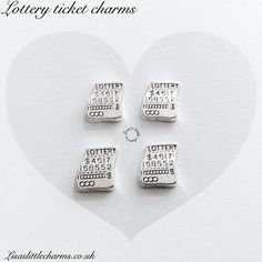 Lottery ticket floating charm £0.50