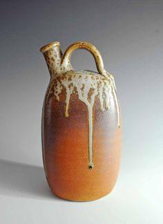 Junction Art Gallery - Squared Cross-Handled Bottle £360.00  http://www.junctionartgallery.co.uk/artists/ceramics/john-leach/squared-cross-handled-bottle
