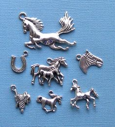 Horse Charm Collection Antique Tibetan Silver by BohemianFindings, $3.50
